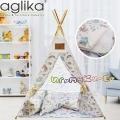 Aglika Детска палатка за игра Типи Еднорог бял