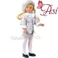 Asi Кукла Силия с палтенце на цветя и барета 0163940