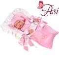 Asi Кукла бебе Мария с розово чувалче за сън 0363600