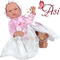 Asi Кукла бебе Мария с дълга бяло-розова рокличка 0364060
