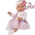 Asi Кукла бебе Мария с розова рокличка и плетена жилетка 0364290