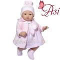 Asi Кукла бебе Коке с розова плетена рокличка и шапка 0401620