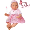 Asi Кукла бебе Коке с розова рокличка на цветя 0403210