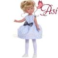 Asi Кукла Силия със светлосиня рокля и панделка 0163330