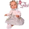 Asi Кукла бебе Лея с рокля на цветя и розово жакетче 0183470
