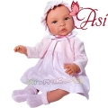 Asi Кукла бебе Лея с рокля, плетена жилетка и шапка 0183480