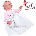 Asi Кукла бебе Лея с дълга бяла рокля 0184070