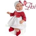 Asi Кукла бебе Лея с червена рокля 0184270