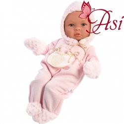 Asi Кукла бебе Лея с розов гащеризон 0184520