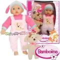 Bambolina Кукла меко тяло 41см. и играчка кученце BD1874