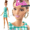 2017 Barbie Fashionistas Кукла Барби DVX72 Emerald Check