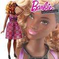 2017 Barbie Fashionistas Кукла Барби DVX79 Zig-Zag Curvy
