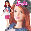 2017 Barbie Fashionistas Кукла Барби DVX69 Kitty Cute Petite
