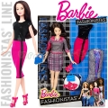 2017 Barbie Fashionistas Кукла Барби с модни тоалети Chic with a Wink DTD99