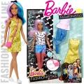 2017 Barbie Fashionistas Кукла Барби с модни тоалети Blue Violet DTF05