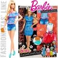 2017 Barbie Fashionistas Кукла Барби с модни тоалети Lacey Blue DTF06