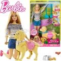 *Barbie® Walk & Potty Pup Барби с домашен любимец DWJ68