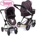 Bayer Детска количка за кукли CITY NEO 3 в 1 с чанта в кафяво 18465AA