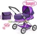 Bayer Детска количка за кукли SMARTY Set с чанта в лилаво 12212AC