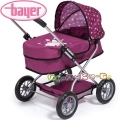 Bayer Детска количка за кукли SMARTY в бордо 12267AA