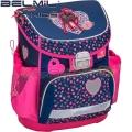 2017 Belmil Love in blue and pink Ергономична раница за училище 405-33-5 Mini Fit