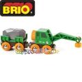 Brio Детско влакче с вагон и кран 33698