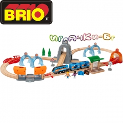 Brio Комплект влакче и релси Action tunel Travel set 33972