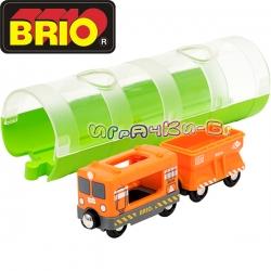 Brio Играчка карго влакче и тунел 33891