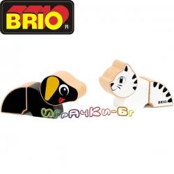 Brio Магнитни кубчета за игра Куче и коте 30269