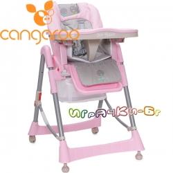 Cangaroo Детски стол за хранене Bon Appetit Pink