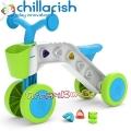Chillafish ItsiBitsi Колело за яздене с кошничка и блокчета Blue CPIB02BLU