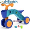 Chillafish ItsiBitsi Колело за яздене с кошничка и блокчета Orange/Blue CPIB02L
