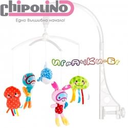 """Chipolino Музикална въртележка за легло """"Морски свят"""" MILC01805SW"""