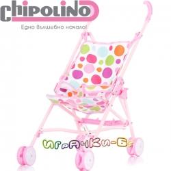 Chipolino Количка за кукли Диди Pink KZKDI02001PI