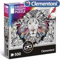 Clementoni 3D Пъзел за оцветяване Лъв 500ч