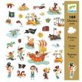 Djeco - Стикери Пирати 160 броя DJ08839