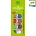 Djeco - Водни бои класик 12 цвята DJ08803