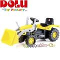 Dolu Детски трактор с педали и гребло Yellow 8051