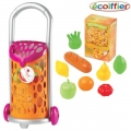 Ecoiffier - Количка за пазар с 9 елемента Super shop 977