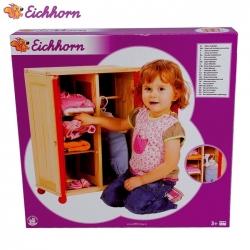 Eichhorn - Дървен гардероб за кукла 4042
