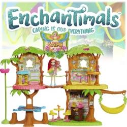 Enchantimals JungleWood Kафене в джунглата с кукла Peeki Parrot и папагал GNC57