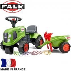 FALK Детски трактор с ремарке и аксесоари Class Green 212C