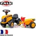 FALK Детски трактор с ремарке и аксесоари JBC Yellow 215C