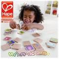 Hape - Диви Животни Дървена мемо игра