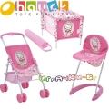 Hauck Toys Комплект за кукли - кошара,количка и стол за хранене Hello Kitty 9828