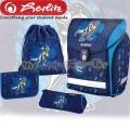 Herlitz MIDI Plus Раница с аксесоари Dino Blue
