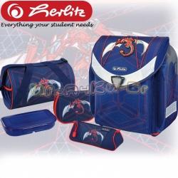 Herlitz FLEXI Plus Раница с аксесоари Red Robo Dragon