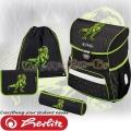 Herlitz Loop Plus Ученическа раница Green Dino