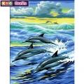 KSG - Рисуване по номера с моливи - Делфинчета