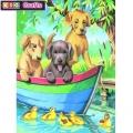 KSG - Рисуване по номера с моливи - Кученца